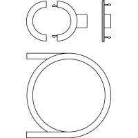Fali csatlakoztatókészlet Uni LHZ termosztáthoz