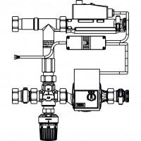Regufloor H fűtési szabályozó egység, DN25, Wilo E15/1-5 szivattyúval