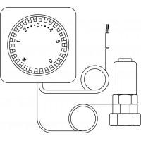 Uni FZH távállításos kivitelű termosztát, 2 m-es kapillárcsővel, Dyna-Temp-hez