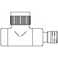 """E típusú termosztatikus szelep, PN10, DN15, 1/2"""", egyenes, antracit, M30 x 1,5, kv=0.65, kvs=0.90"""