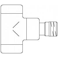 """Combi E típusú visszatérő szelep, PN10, DN15, 1/2"""", sarok, antracit"""