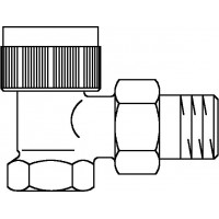 A típusú termosztatikus szelep, DN10, R 3/8, PN10, sarok