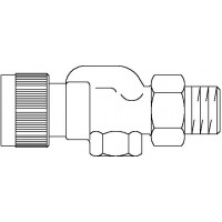 A típusú termosztatikus szelep, DN15, R 1/2, PN10, axiális