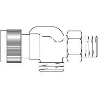 A típusú termosztatikus szelep, DN15, G 3/4 km x R 1/2, PN10, axiális