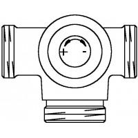 Háromjáratú átalakításra szolgáló szelep, DN15, PN16, egycsöves fűtési rendszerre, balos