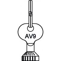 Előbeállító kulcs AV9, RFV9, szelepekhez