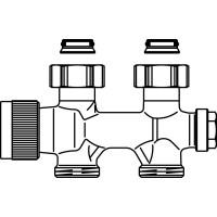 """Multiblock T csatlakozó szerelvény, egy- és kétcsöves, 3/4"""" hollandi x 3/4"""" km, egyenes, kv=0.52, kvs=0.75"""