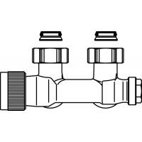 """Multiblock T csatlakozó szerelvény, egy- és kétcsöves, 3/4"""" hollandi x 3/4"""" km, sarok, kv=0.52, kvs=0.75"""