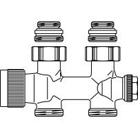 """Multiblock T csatlakozó szerelvény, 1/2"""" km x 3/4"""" km, sárgaréz, egyenes, kv=0.52, kvs=0.75"""