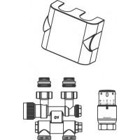 7. sz. csatlakozó készlet törölközőszárító radiátorokhoz, Multiblock T/Uni SH, elfordítható, fehér