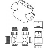 1. sz. csatlakozó készlet törölközőszárító radiátorokhoz, Multiblock T/Uni SH, egyenes, fehér