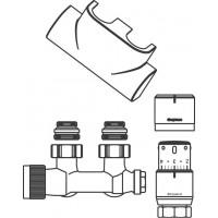 2. sz. csatlakozó készlet törölközőszárító radiátorokhoz, Multiblock T/Uni SH, sarok, fehér