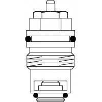 Szelepbetét A, AZ és RF típusú termosztatikus szelepekhez, rozsdamentes ülékkel (különösen gőzfűtésre)