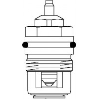 Szelepbetét AV 6 és RFV 6 szelepekhez, M30 x 1,5, DN10 - DN20, kv=0.65