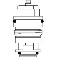 Szelepbetét, felcserélt bekötésre, A, AV 6, RF és RFV 6 szelepekhez, kv=0.45