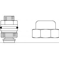 Combi LR szelepbetét, zárókupakkal, Hycocon szelepekhez