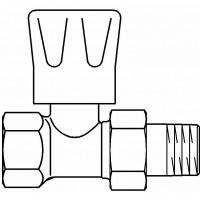 """HR típusú kézi szabályozószelep, PN10, DN20, 3/4"""", egyenes, fehér kézikerékkel, kvs=1.20"""