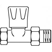 """HRV típusú kézi szabályozószelep, PN10, DN10, 3/8"""", egyenes, kézi szabályozóval, kvs=1.70"""