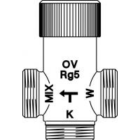 """Brawa-Mix termosztatikus HMV-keverő, szelep, 1"""" km 2 hollandival, vörösöntvény, 30-70°C"""