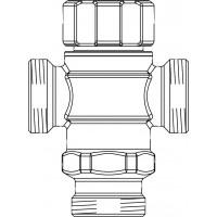 """Brawa-Mix termosztatikus HMV-keverő szelep, DN20, G 1"""" km, vörösöntvény, 30-65°C"""