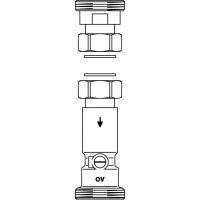 Hőmennyiségmérő beépítési készlet, DN25 Regumat M3/M4-180-hoz