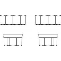 """Csatlakozó-készlet DN25 méretű Regumat-hoz, G 1 1/2"""" hollandi és 1"""" belsőmenetes toldat (2 db)"""