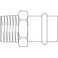 """Csatlakozó-készlet DN40/50 méretű Regumat-hoz, 54 mm x R 2"""", Viega Sanpress, SC-Contur"""