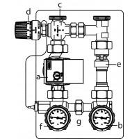 Regumat RTA-130 VR szivattyú-állomás, DN25, Wilo Yonos Para 25/6 RKC szivattyúval