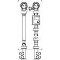 Fűtőköri csatlakozó szerelvénycsoport, hőszivattyús rendszerekhez