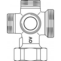 """6-járatú blokk szivattyúcsatlakozó-peremmel, G 1 1/2"""", G 1 1/2"""" és 4 x G 1"""" km"""