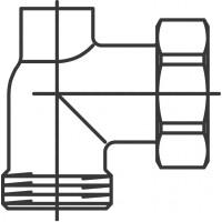 """Csatlakozó-könyökidom kazánbekötéshez, G1"""" hollandi x G1"""" km x G3/8"""" bm"""