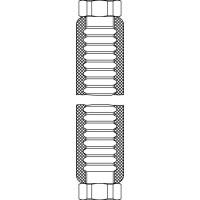 """Fémbevonatú tömlő, szigetelt, kazánbekötéshez, G1"""" hollandi, lapos tömítéssel, 2000 mm"""