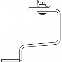 OKF tetőkampó hullám cseréphez, alapkészlet = 6 db kampó