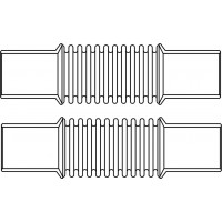 Összekötő idom, 100 mm, DN20, mindkét oldalon 22 mm-es szorítócsavarzattal