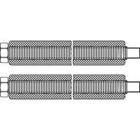 """Acél összekötőcső, DN16, 22 mm x G 3/4"""" hollandi, lapos tömítéssel, 1 m"""
