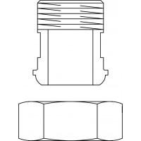 """Regusol csatlakozó-készlet, DN20, 2 db G 1"""" hollandi, G 3/4"""" km toldat, lapos tömítéssel"""