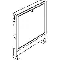 Falszerkezetbe süllyeszthető osztó-gyűjtő szekrény, Sz: 1200 x Ma:760-885 x Mé:115-180 mm