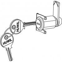 Hengerzár kulccsal, falsík elé szerelhető osztószekrényekhez