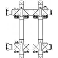 """Multidis SH nemesacél osztó-gyűjtő, 1"""", fűtőtest-bekötéshez, G 3/4"""" km, 10 körös"""