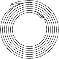 Copipe többrétegű cső tekercsben, 6 mm-es szigeteléssel, tekercshossz: 50 m, 20 x 2.5 mm