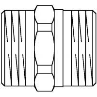 """Cofit S kettős közcsavar, vörösöntvény, G 1 1/4"""" km x G 1 1/4"""" km"""