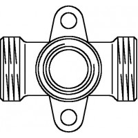 "Cofit S falikorong, vörösöntvény, G 3/4"" x Rp 1/2"" x G 3/4"" km, átmenő"