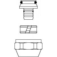 """Cofit S szorítógyűrűs csavarzat, 16 x 2.0 mm x G 3/4"""" hollandi, nikkelezett"""