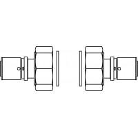 """Csatlakozó-készlet DN25 méretű Regumat-hoz, G 1 1/2"""" hollandi és 26x3 mm-es préscsatlakozó (2 db)"""