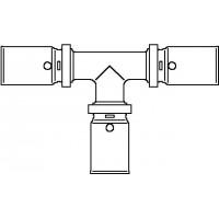 Cofit P prés T-idom, 16 x 16 x 16 mm, vörösöntvény / nemesacél