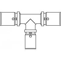 Cofit P prés T-idom, 20 x 16 x 20 mm, vörösöntvény / nemesacél