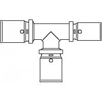 Cofit P prés T-idom, 20 x 20 x 16 mm, vörösöntvény / nemesacél