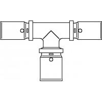 Cofit P prés T-idom, 16 x 20 x 16 mm, vörösöntvény / nemesacél