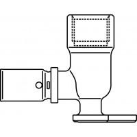 """Cofit P falikorong prés-csatlakozóval, 90°, 16 x 2.0 mm x Rp 1/2"""", hosszú kivitel"""