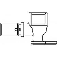 """Cofit P falikorong prés-csatlakozóval, 90°, 16 x 2.0 mm x Rp 1/2"""", rövid kivitel"""